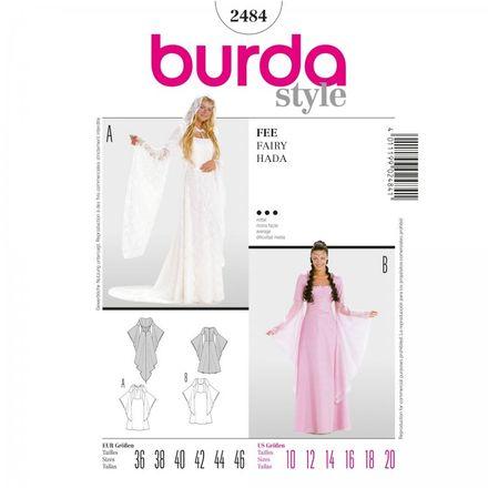 Burda Schnittmuster - 2484 - Damen Kostüm Fee - Elfe - Brautkleid