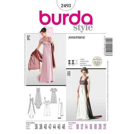 Burda Schnittmuster - 2493 - Damen Kostüm - Josephine & Grand Dame