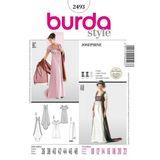 Burda Schnittmuster - 2493 - Damen Kostüm - Josephine & Grand Dame 001