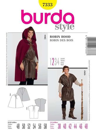 Burda Schnittmuster - 7333 - Kostüm - Robin Hood, Knecht
