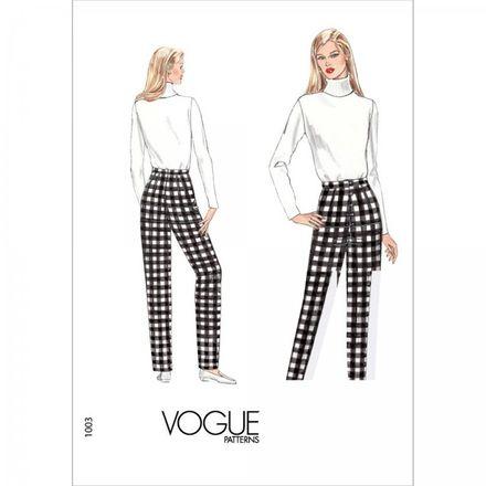 Vogue Schnittmuster V1003 - Damen Hose