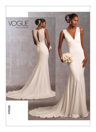 Vogue Schnittmuster V1032 - Damen Brautkleid