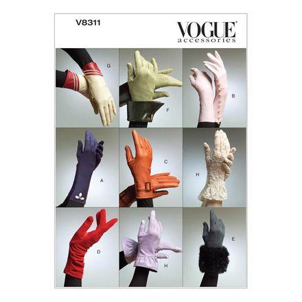 Vogue Schnittmuster V8311 - Damen - Accessoires - Handschuhe