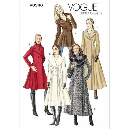 Vogue Schnittmuster V8346 - Damen - Mantel