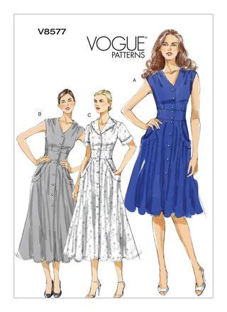Vogue Schnittmuster V8577 - Damen - Kleid