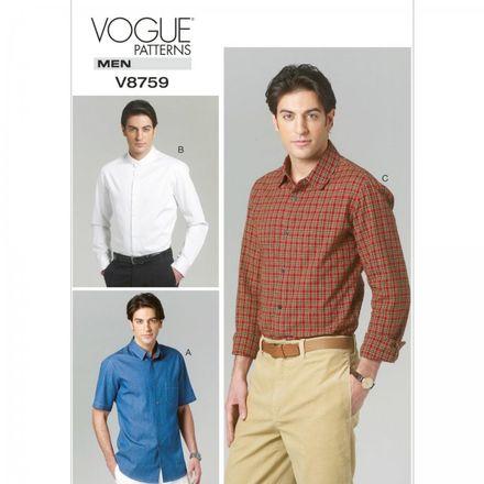 Vogue Schnittmuster V8759 - Herren - Hemd