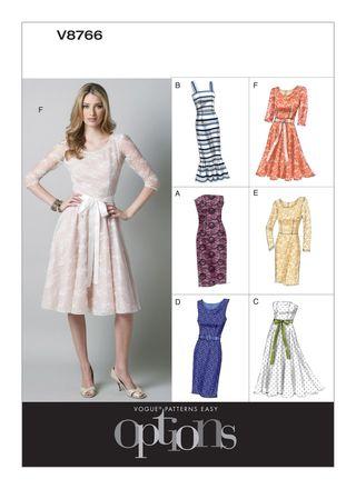 Vogue Schnittmuster V8766 - Damen - Kleid