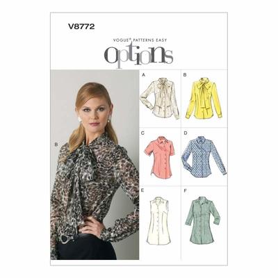 Vogue Schnittmuster V8772 - Damen - Bluse