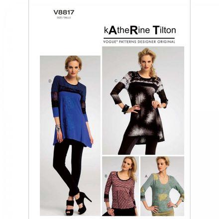 Vogue Schnittmuster V8817 - Damen - Shirt