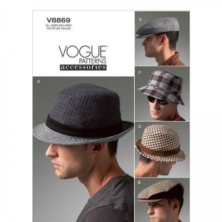 Vogue Schnittmuster V8869 - Herren - Accessoires Hüte