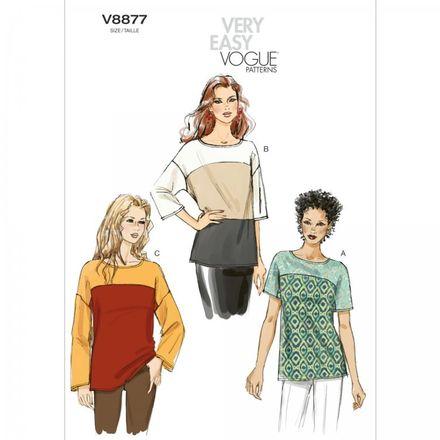 Vogue Schnittmuster V8877 - Damen - Shirt