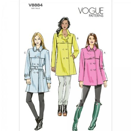Vogue Schnittmuster V8884 - Damen - Mantel