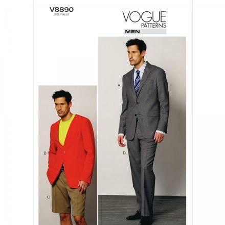 Vogue Schnittmuster V8890 - Herren - Anzug