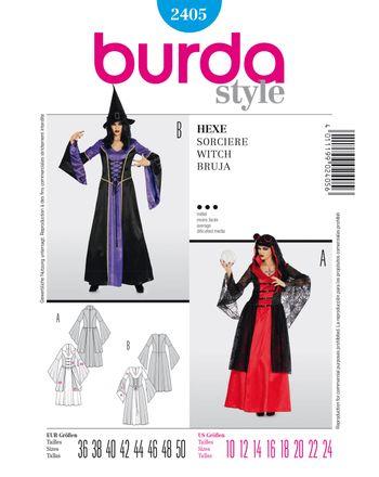Burda Schnittmuster - 2405 - Karneval - Hexe & Wahrsagerin