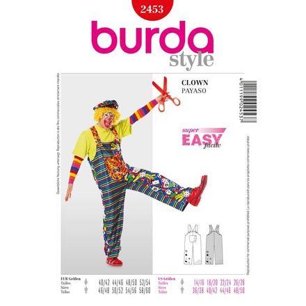 Burda Schnittmuster - 2453 - Unisex Kostüm Clowns-Trägerhose