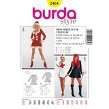Burda Schnittmuster - 2464 - Damen Kostüm Teufelin - Schwester (& Miss Nikolaus) 001