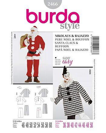 Burda Schnittmuster - 2466 - Herren Kostüm Nikolaus (& Bajazzo)