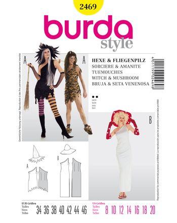 Burda Schnittmuster - 2469 - Kostüm - Hexe (& Fliegenpilz)