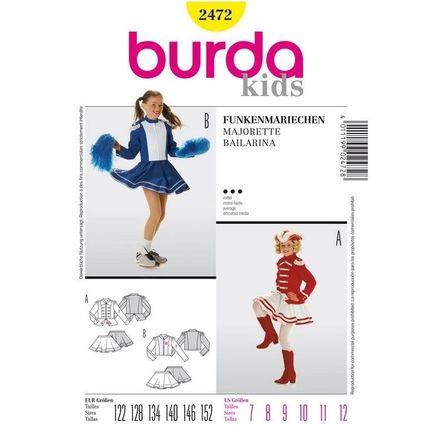 Burda Schnittmuster - 2472 - Kids - Karneval-Funkenmariechen