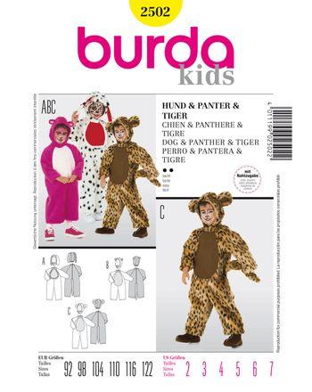 Burda Schnittmuster - 2502 - Kinder Kostüm-Overall