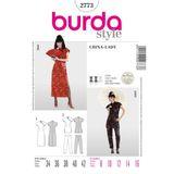 Burda Schnittmuster - 2773 - Suzi Wong - Asia-Kleid & Zweiteiler 001
