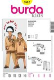 Burda Schnittmuster - 5812 - Kinder Kostüm Indianer, Indianerin 001