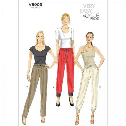 Vogue Schnittmuster V8909 - Damen - Jogginghose