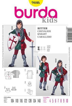 Burda Schnittmuster - 9446 - Kinder Kostüm, Ritter