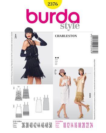 Burda Schnittmuster - 2376 - Damen Kostüm Charlestonkleid