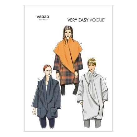 Vogue Schnittmuster V8930 - Damen - Jacke