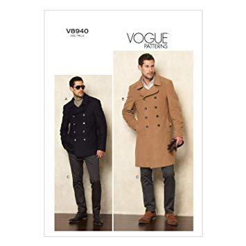 Vogue Schnittmuster V8940 - Herren - Mantel, Hose