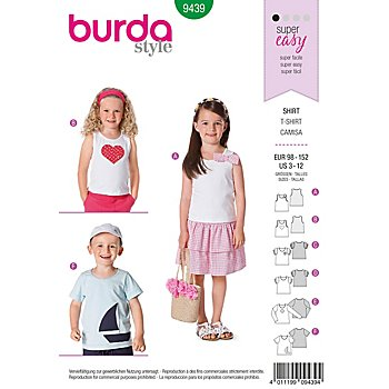Burda Schnittmuster - 9439 - Kids - T-Shirt – Top