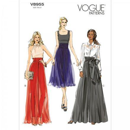 Vogue Schnittmuster V8955 - Damen - Hose, Hosenrock