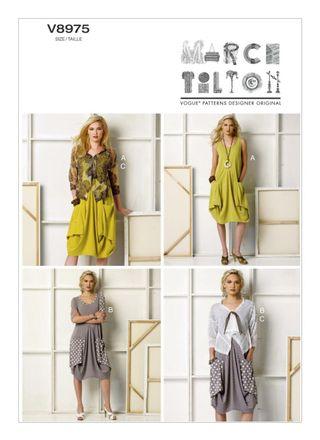 Vogue Schnittmuster V8975 - Damen - Kleid, Jacke