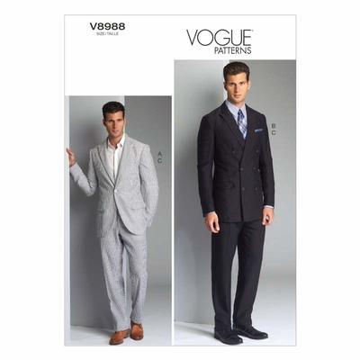 Vogue Schnittmuster V8988 - Herren - Anzug