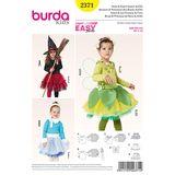 Burda Schnittmuster - 2371 - Kids Kostüme - Eisprinzessin, Elfe 001