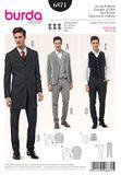 Burda Schnittmuster - 6871 - Herren Anzug mit Weste, Gehrock - einreihig 001