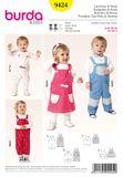 Burda Schnittmuster - 9424 - Kinder Latzhose – Latzrock 001