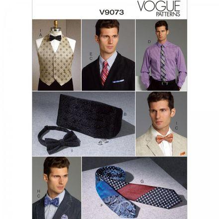 Vogue Schnittmuster V9073 - Herren - Weste & Accessoires