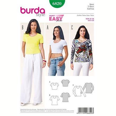 Burda Schnittmuster - 6820 - Damen Shirt