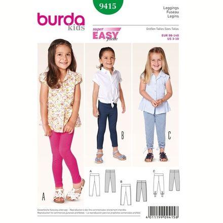 Burda Schnittmuster - 9415 - Kinder Leggings