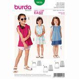 Burda Schnittmuster - 9416 - Kinder Shirt, Trägerkleid 001