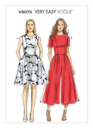 Vogue Schnittmuster V9075 - Damen - Kleid, Jumpsuit