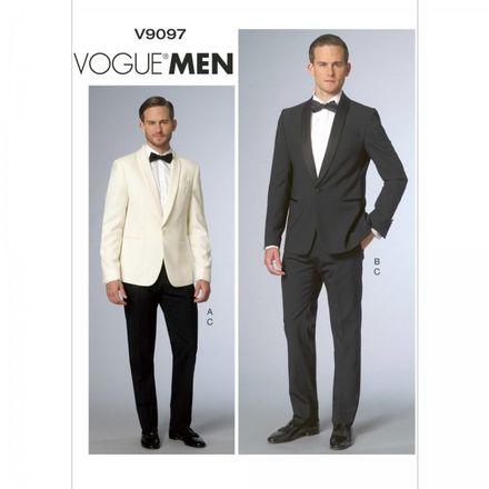 Vogue Schnittmuster V9097 - Herren - Anzug