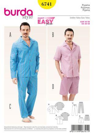 Burda Schnittmuster - 6741 - Herren-Pyjama - klassischer Stil