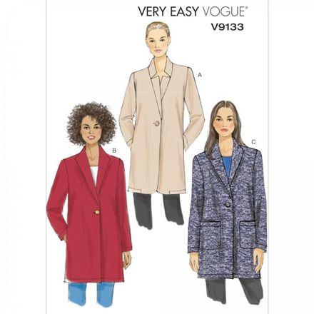 Vogue Schnittmuster V9133 - Damen - Jacke