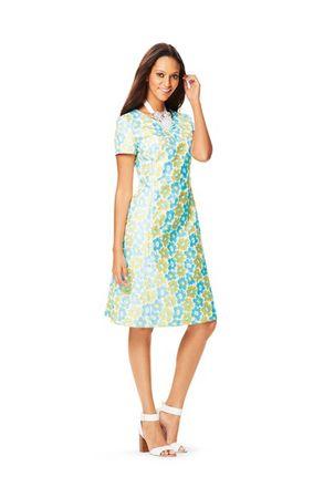 Schnitt - 6627 - Kleid - leicht ausgestellt mit Teilungsnähten