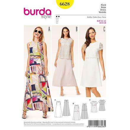 Schnitt - 6628 - Sommerkleid - Kleid mit Spitzenüberteil - A-Linie