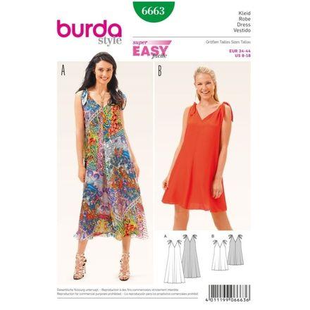 Burda Schnittmuster - 6663 - Damen Sommerkleid