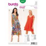 Burda Schnittmuster - 6663 - Damen Sommerkleid 001